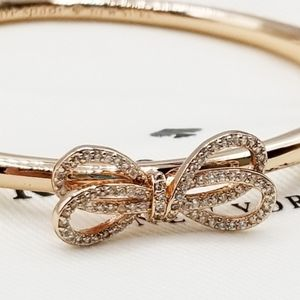 Kate Spade Bow Meets Girl Rose Gold Pave Bangle